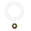 Metal Christmas 12 Inch Wreath Supplies Wholesale Flower Wreath Frames Making Rings for Christmas, New Year Party Decoration