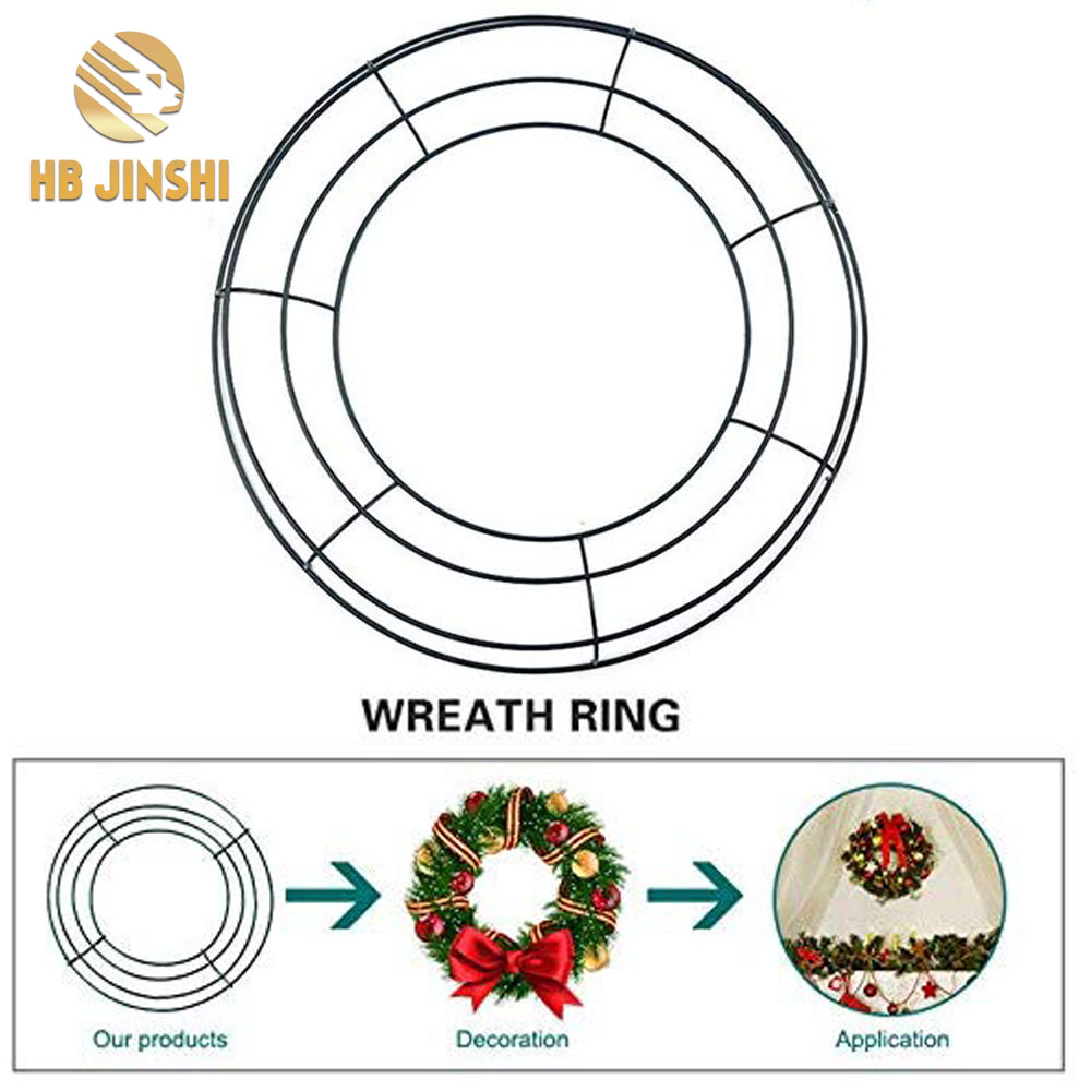 Hardcover of metal wire wreath for Chrimas/new year